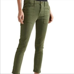 THE GREAT. The Skinny Army Brushed Twill Pant 28
